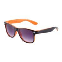 Sort og orange Wayfarer solbriller.