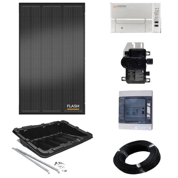 détail kit solaire 2 panneaux