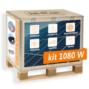Kit 4 panneaux solaires pas cher
