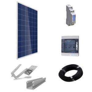 Détail kit 4 panneaux solaires