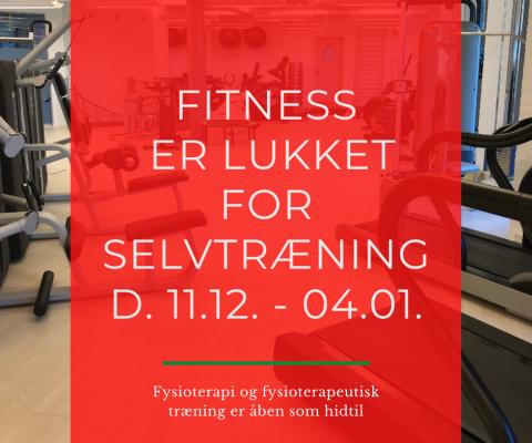 Lukket for træningsmedlemmer 11. dec. – 4. jan.