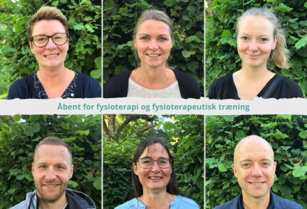 Åbent for fysioterapi og fysioterapeutisk træning