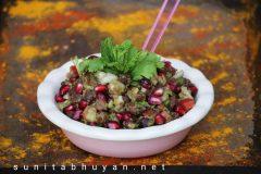 Kala chana, alu chaat l Black chickpeas and potato chaat