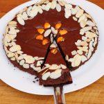 Chocolate, orange and almond flourless cake