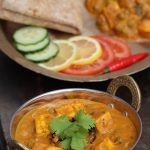 Tomato peas and paneer curry