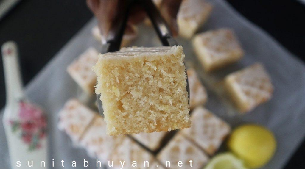 Whole wheat lemon and coconut cake