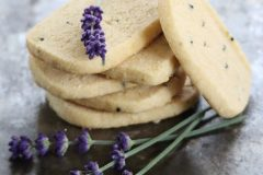 Lavender whole wheat shortbread biscuits