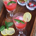 Cherry and rhubarb cooler