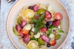 Fig and greengage salad
