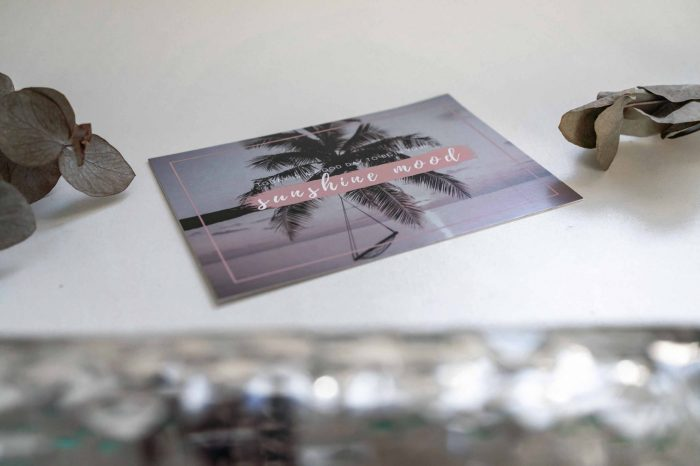 Postkarte mit Palme