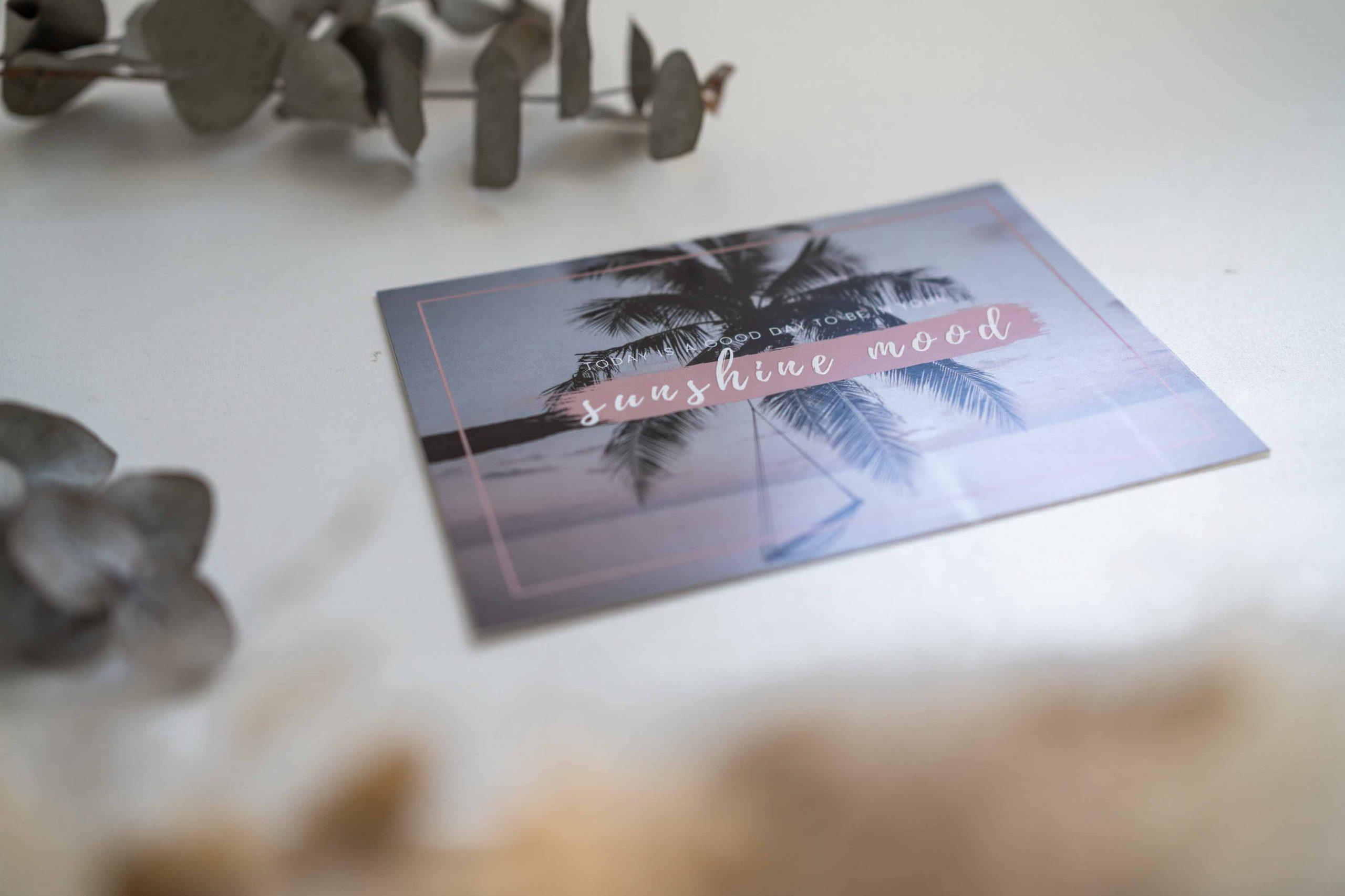 Positive Postkarte