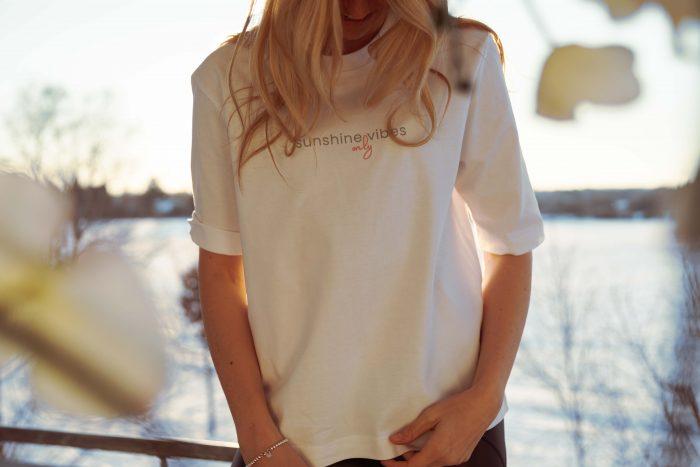 Weißes Bio-Shirt