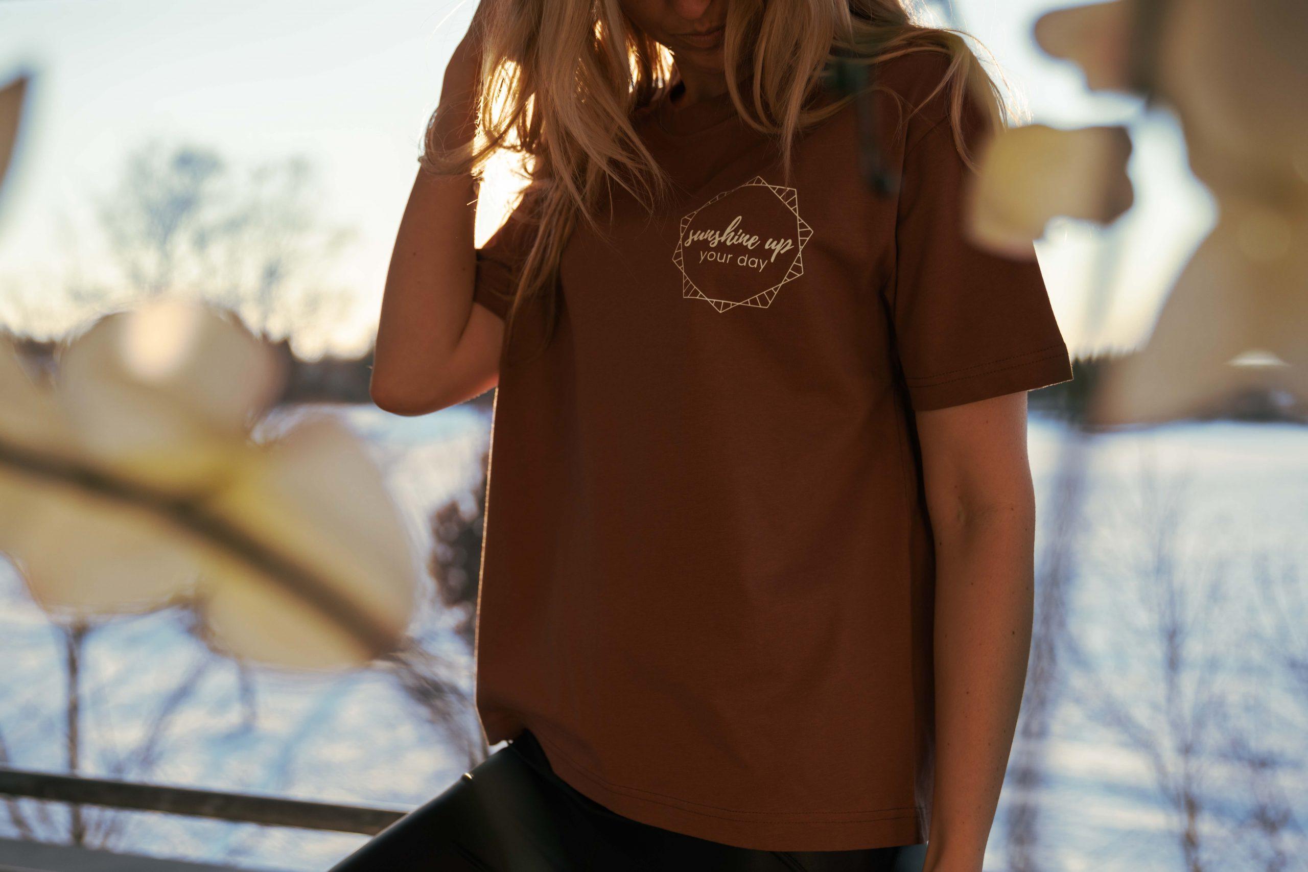 Bio T-Shirt in Karamell