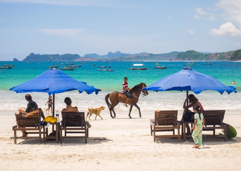 Horse riding at Selong Belanak Beach Lombok