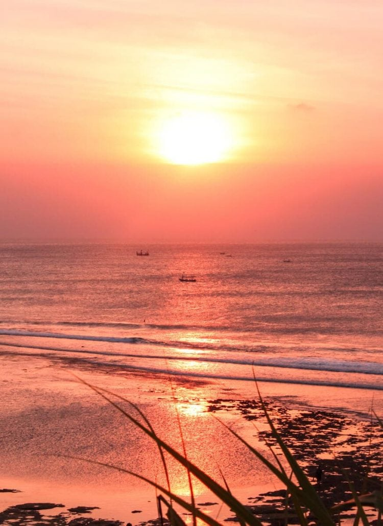 Where to stay in Bali: A complete guide to the different areas on the island - View from Balangan Beach at sunset