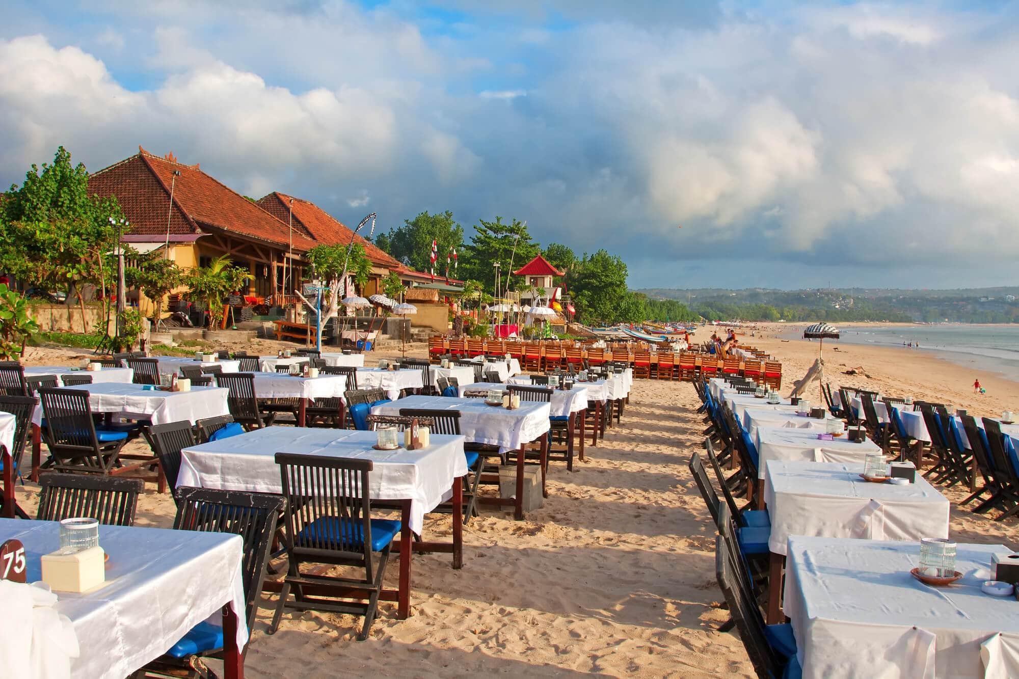 Where to stay in Bali: A complete guide to the different areas on the island - Sunset dinner on Jimbaran Beach