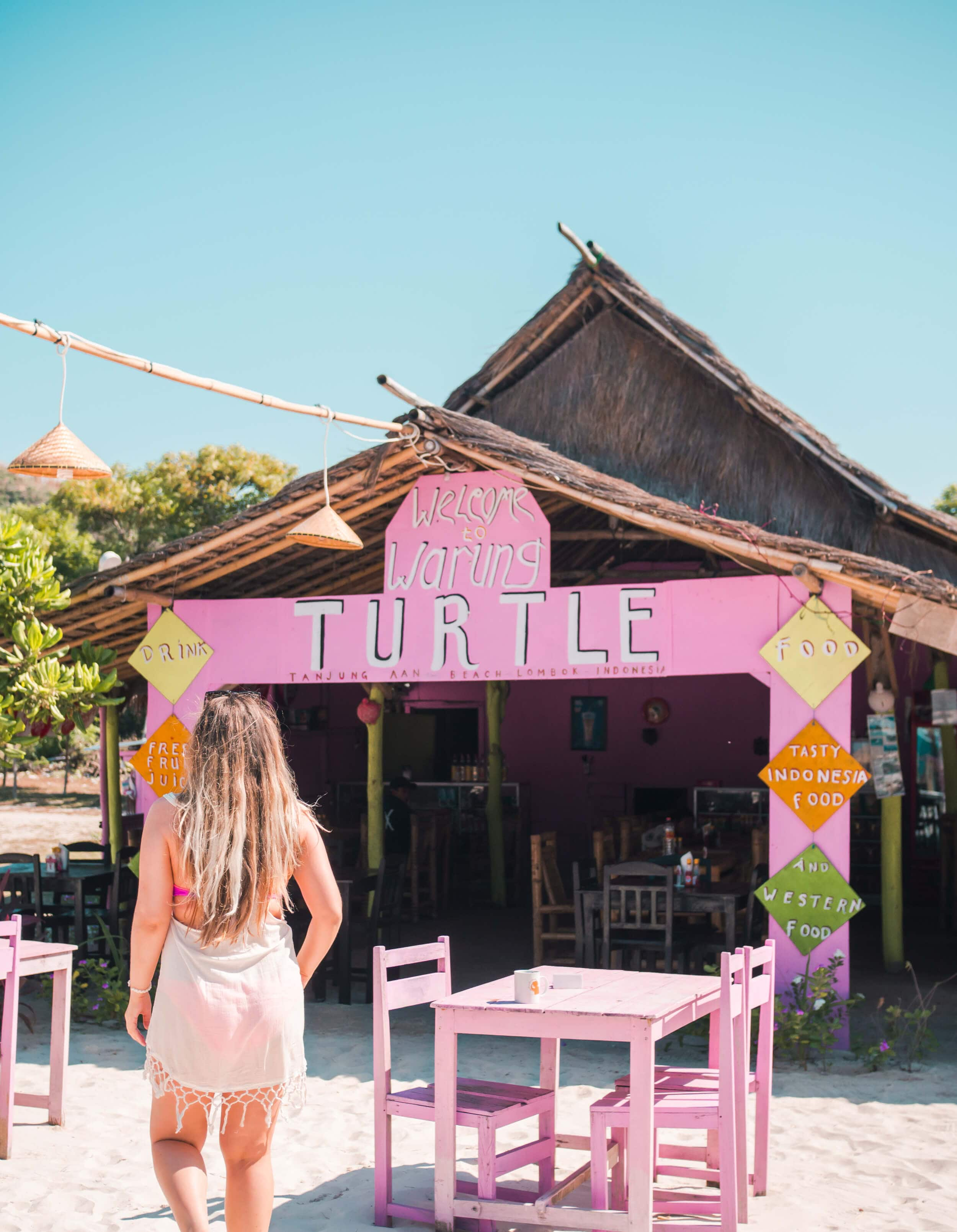 Warung Turtle on Tanjung Aan - Best beach in Lombok