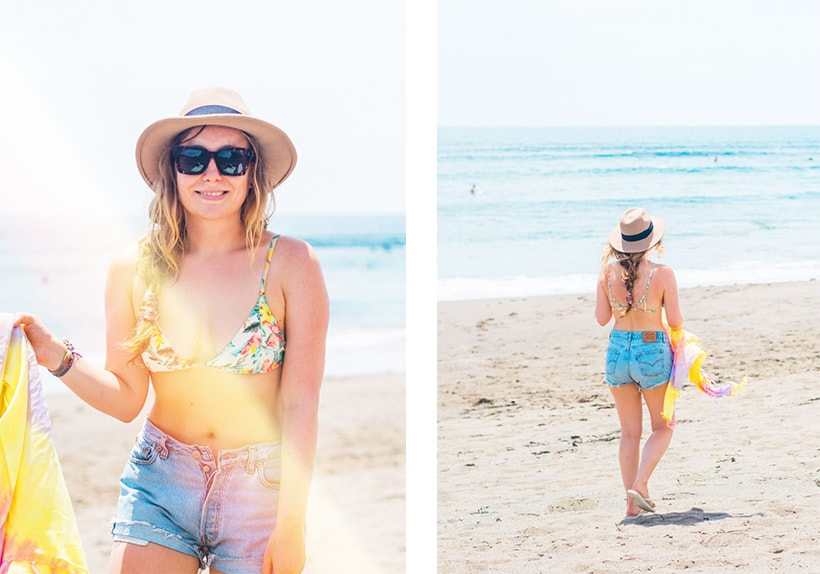 Girl at Batu Bolong Beach Canggu Bali Guide
