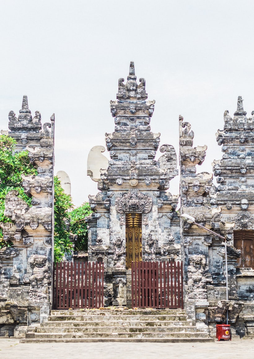 The temple at Batu Bolong beach Canggu