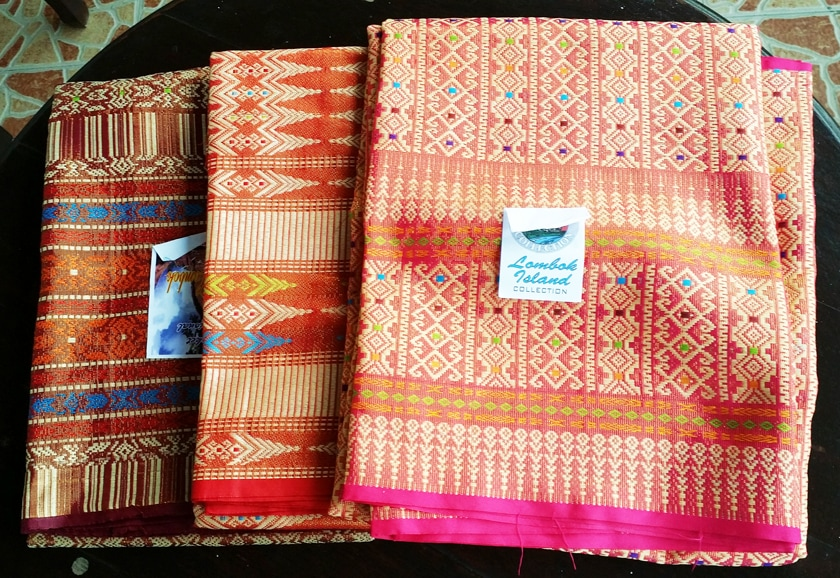 Fabrics I bought from the weaving village south lombok