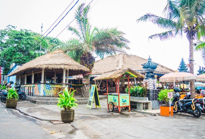 The famous restaurant Old Man's Canggu Bali