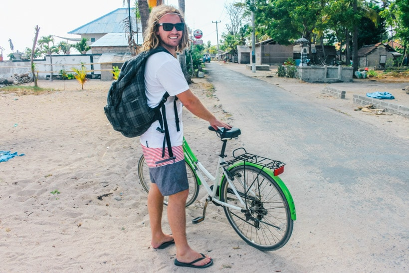 Bicycling to Warung Agung Mangrove Forest Nusa Lembongan