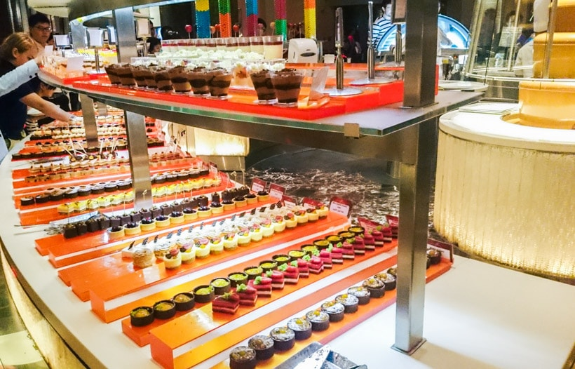 Dessert buffet at Atlantis the Palm Hotel