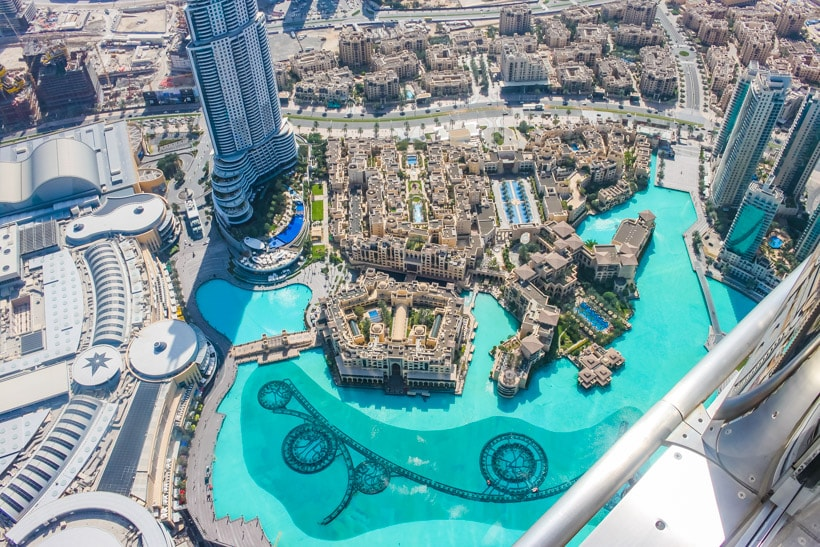 View from 124 floor Burj Khalifa Dubai Mall