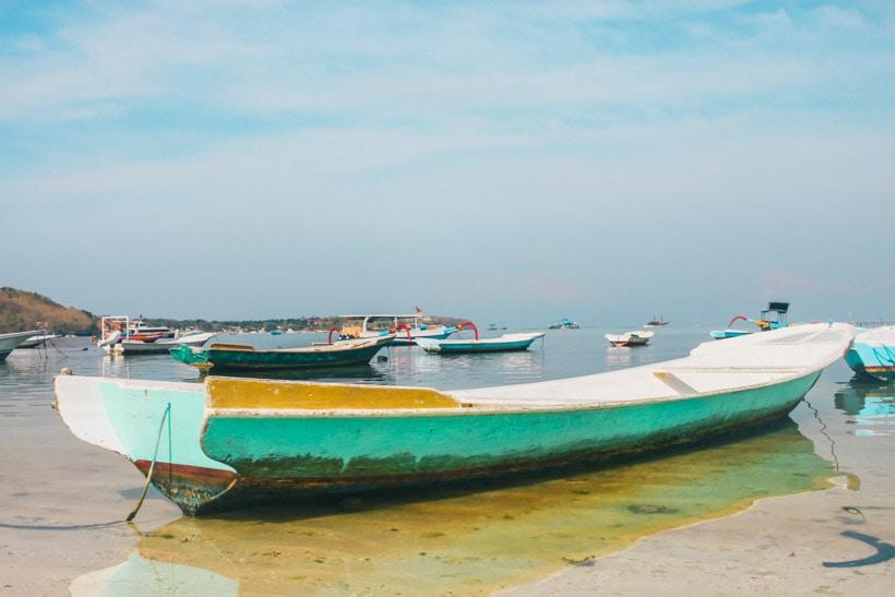 Boat at Nusa Lembongan Bali