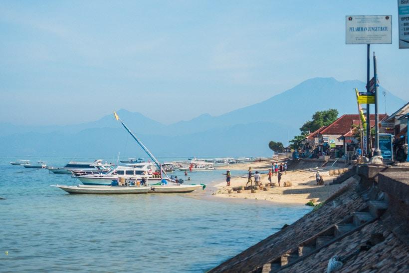 Early morning at Jungut Batu Beach Nusa Lembongan
