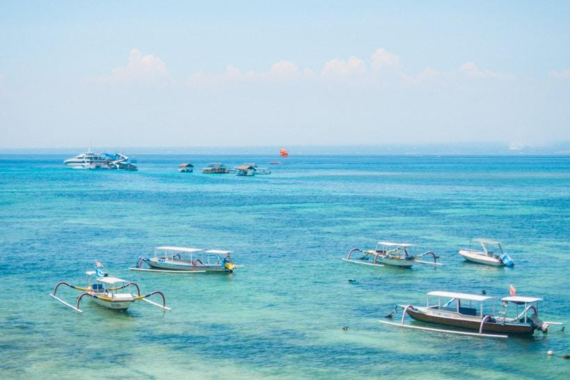 View from the boardwalk on Nusa Lembingan, Bali
