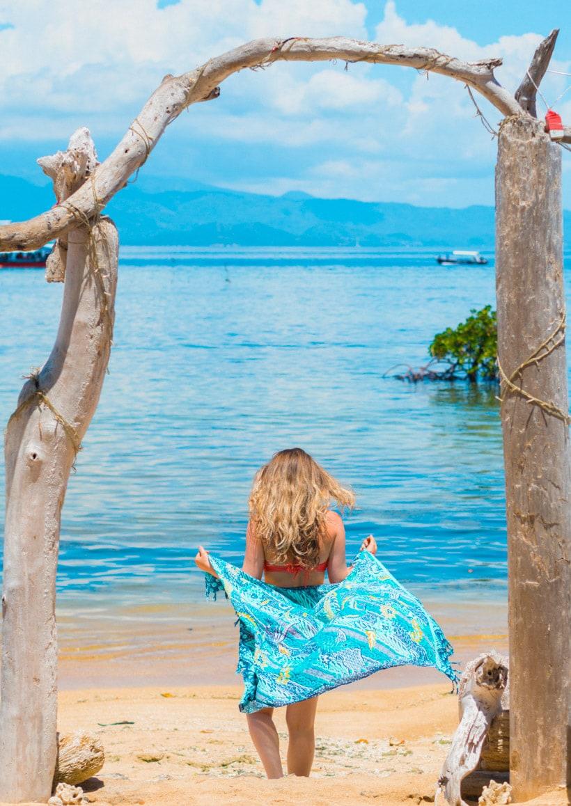 Chilling at Mangrove Forest Beach Nusa Lembongan