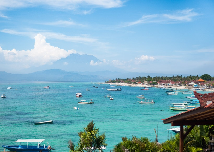 View of Jungut Batu Beach on Nusa Lembongan, Bali Travel