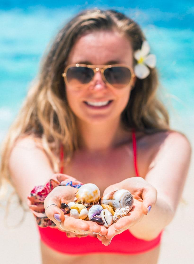 Girl at Secret Beach Nusa Ceningan, Bali Wanderlust