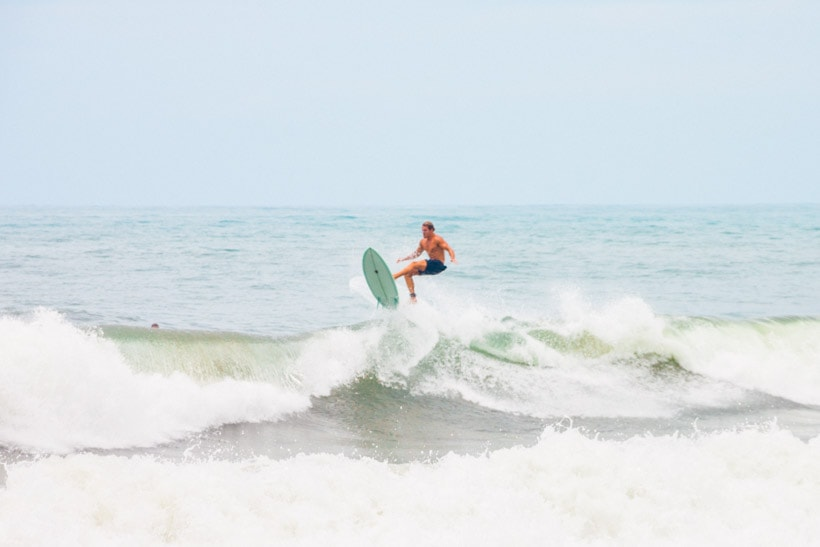 Surfer at Echo Beach Canggu Bali