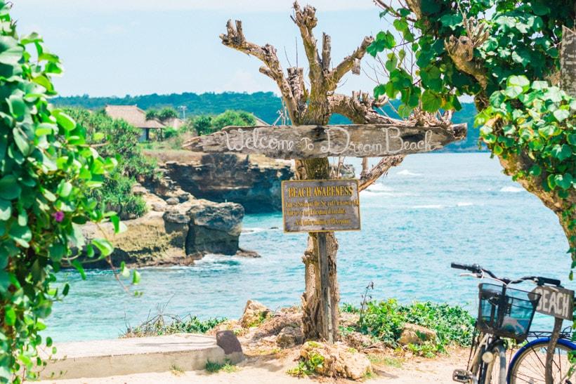 Dream Beach Sign Nusa Lembongan, Wanderlust