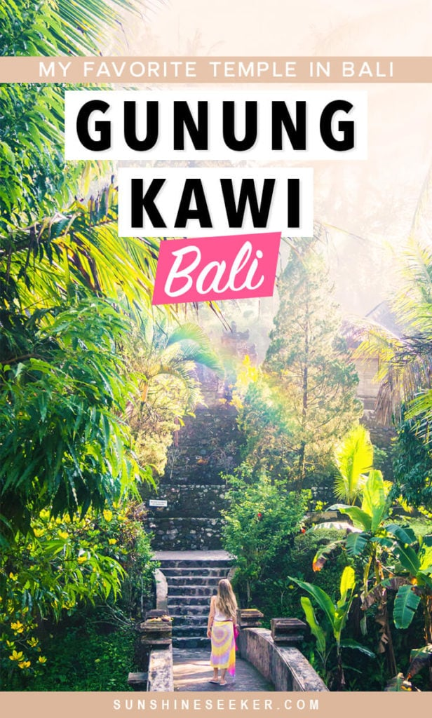 Gunung Kawi, Bali's most magical temple. It's the one attraction you have to experience while on the island! Click through to see why Gunung Kawi is my favorite temple in Bali, Indonesia #gunungkawi #ubud #bali #indonesia #baliguide #travelinspo
