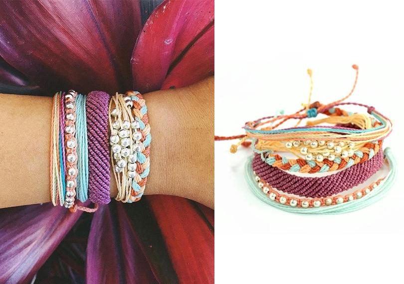 Gift Ideas for travel girls - 100% waterproof Pura Vida Bracelets set