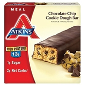 Healthy travel snack - Atkins chocolate chip cookie meal bar