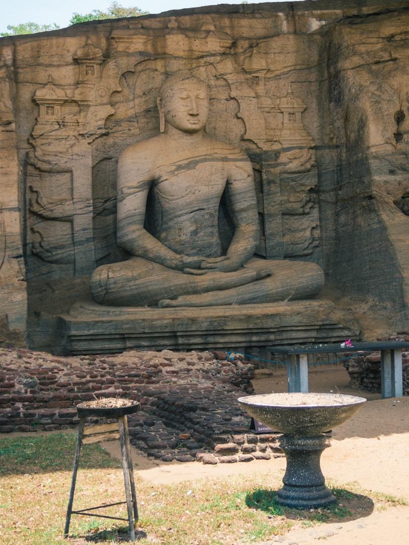 The incredible ancient city of Polonnaruwa - A must visit while in Sri Lanka - Gal Vihara Buddha Statue