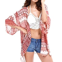 The perfect travel outfit for hot climate - Red & white kimono