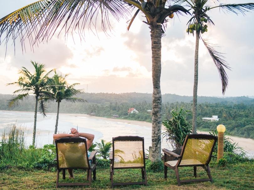 Talalla Beach, Sri Lanka - Hotel Panorama sunset view