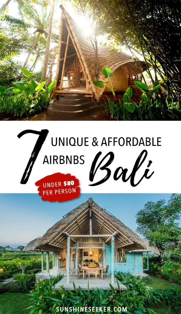 7 unique and affordable Bali airbnbs - Bali, Indonesia