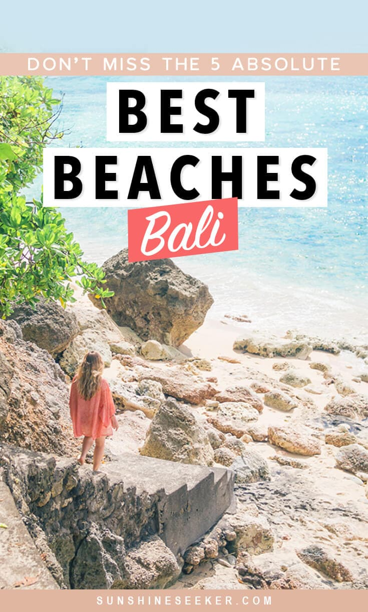 A first timer's guide to the best beaches in Bali, Indonesia. 5 gorgeous white sand beaches you shouldn't miss. How to get there + what to expect #bali #balilife #indonesia #uluwatu #paradise