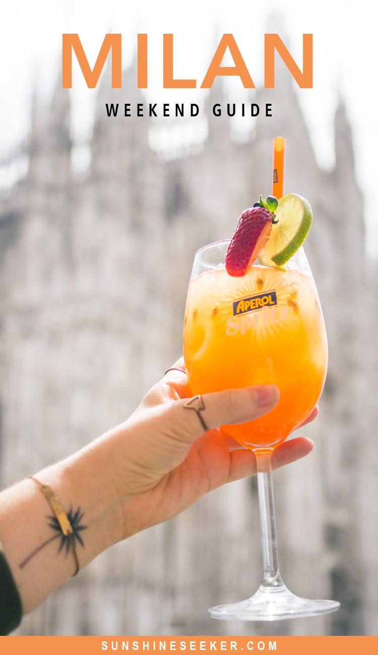 A quick weekend guide to Milan, Italy - Duomo di Milano & Terrazza Aperol
