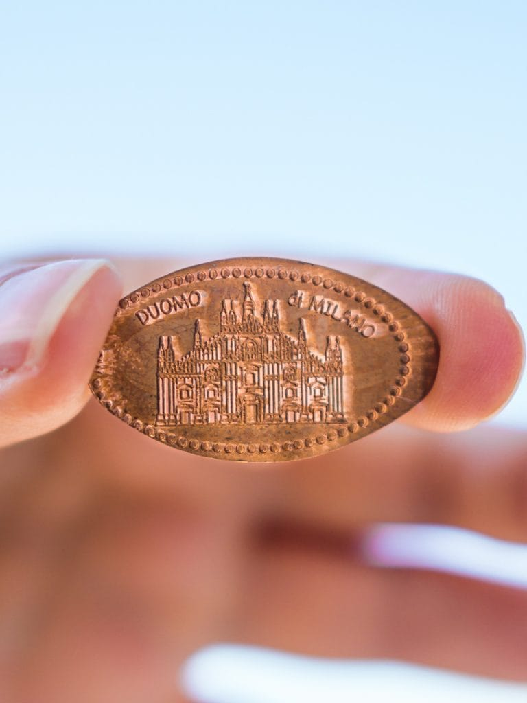 Collecting Pressed Pennies in Sempione Park - Two days in Milan, Italy