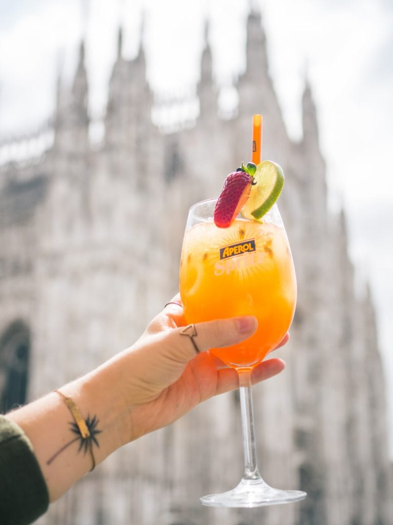 How to spend two days in Milan - Enjoying a Aperol Spritz at Terrazza Aperol
