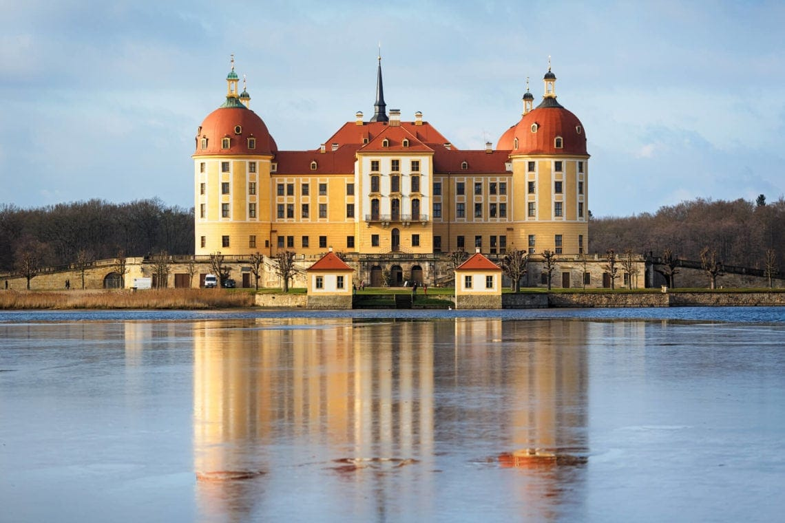 Moritzburg Castle the gorgeous from fairytale Three Wishes for Cinderella - The perfect day trip from Dresden