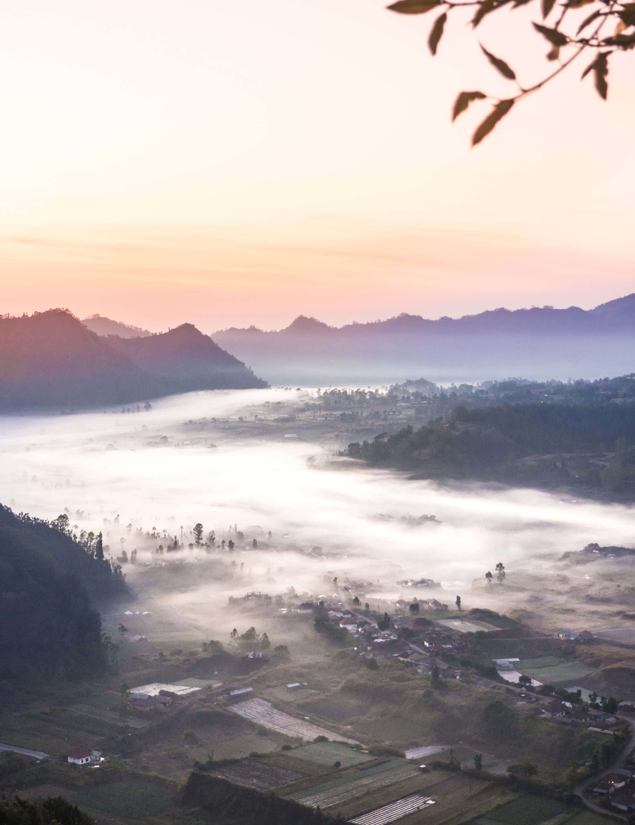 Sunrise over Pinggan Village in Bali - An incredible experience