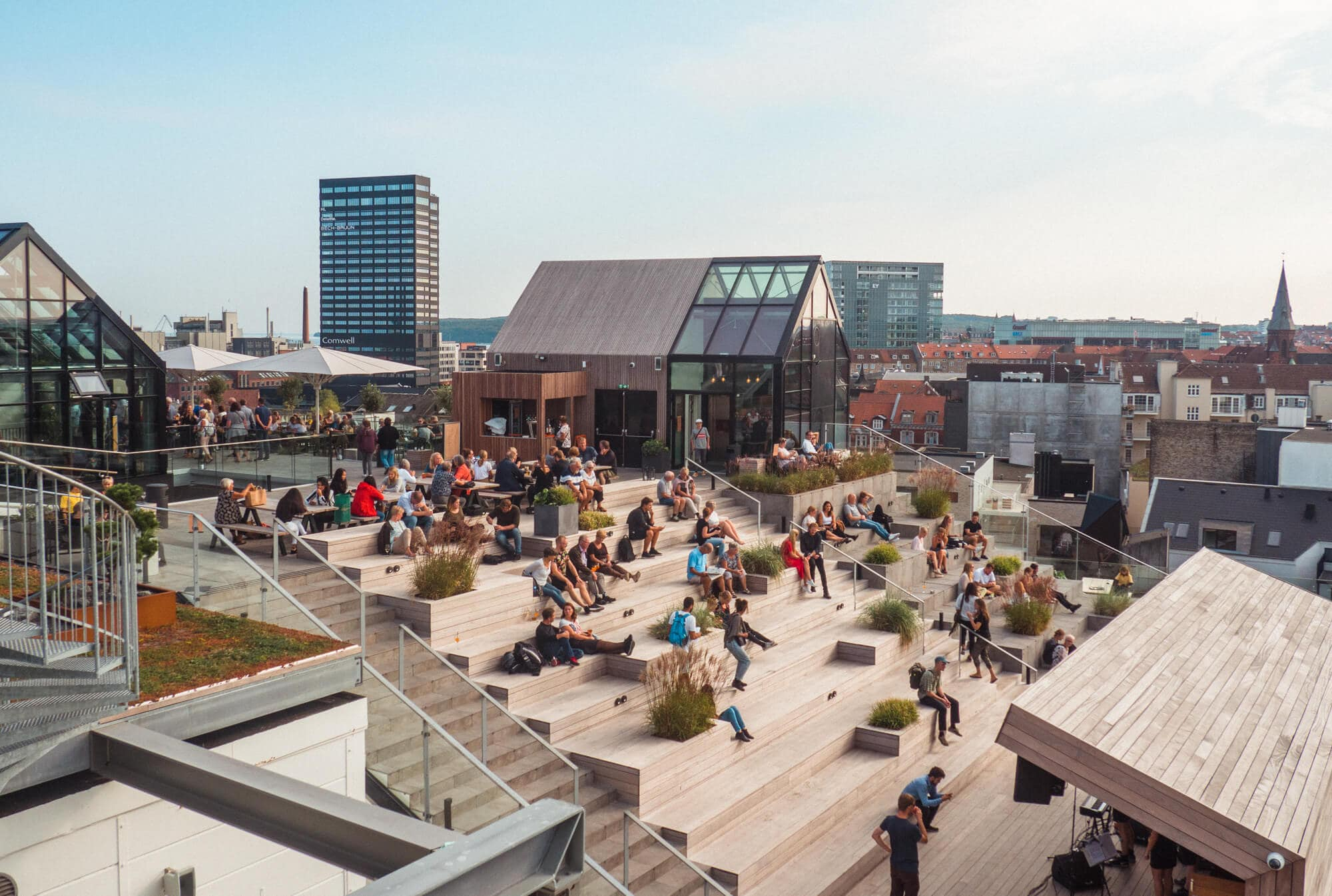Two days in Aarhus - Denmark's happiest city. One of the best bars in town is Selling Rooftop which offers incredible some views